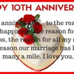 10th Wedding Anniversary Wishes To Wife Facebook