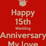 15th Wedding Anniversary Quotes For Husband Pinterest
