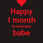 1st Month Anniversary Wishes Facebook