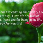 1st Wedding Anniversary Message For Husband