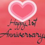 1st Wedding Anniversary Message Twitter