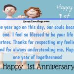 1st Year Love Anniversary Quotes