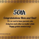 50th Wedding Anniversary Poems For Parents Tumblr