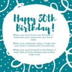80th Birthday Wishes Pinterest
