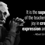 Albert Einstein Teacher Quote Facebook