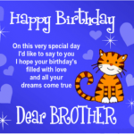 Birthday Message For Younger Brother Facebook