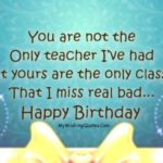 Birthday Quotes For Teacher Twitter