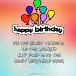 Birthday Wishes For Best Teacher Tumblr