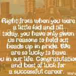 Congratulations Graduation Messages For Son Pinterest