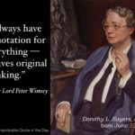 Dorothy L Sayers Quotes Pinterest