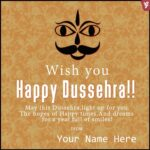Dussehra Wishes With Name Facebook