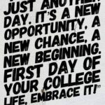 First Day Of College Quotes Tumblr