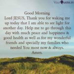 Good Morning Lord Jesus Quotes Facebook