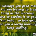 Good Morning Message Baby