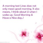 Good Morning Nice Line Facebook