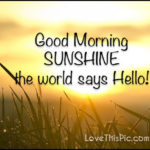 Good Morning Sunshine Quotes Facebook