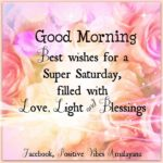 Good Morning With Saturday Quotes Facebook