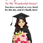 Graduation Message For Sister Pinterest