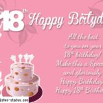 Happy 18th Birthday Wishes Facebook