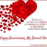 Happy Anniversary Message To Husband Pinterest
