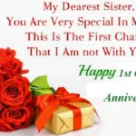 Happy Anniversary Wishes For Sister Twitter