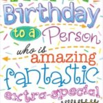 Happy Birthday To A Very Special Person Pinterest