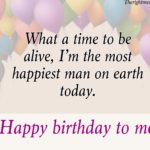 Happy Birthday To Me Message Facebook