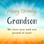 Happy Birthday To My Grandson Facebook
