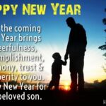 Happy New Year Wishes For Son Pinterest