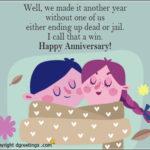 Happy Wedding Anniversary Funny Quotes Pinterest