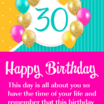Inspirational 30th Birthday Wishes Facebook