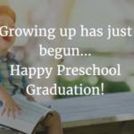 Inspirational Message For Preschool Graduation