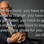 Jim Rohn Quotes For Things To Change
