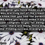 Message For Graduation For Daughter Twitter