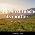 Mother First Teacher Quote Facebook