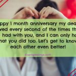 One Month Anniversary Quotes Facebook