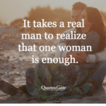 One Woman Man Quotes