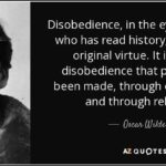 Oscar Wilde Disobedience Quote Twitter