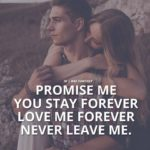 Promise To Stay Forever Quotes Pinterest