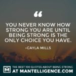 Short Quotes About Being Strong