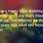 Silver Anniversary Message Facebook