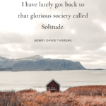 Solitude Quotes Thoreau Pinterest