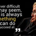 Stephen Hawking Success Quotes Facebook