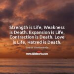 Swami Vivekananda Strength Is Life Weakness Is Death Facebook
