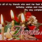 Thank You Message For Birthday Wishes Twitter