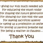 Thank You Message For Your Teacher Twitter