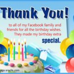 Thanking Friends For Birthday Wishes Facebook