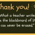 Thanks To Teacher Quotes Pinterest