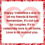 Valentine Wishes For Family And Friends Pinterest