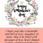 Valentines Day Message To Daughter Pinterest